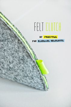 DIY Felt Clutch with Neon Accents