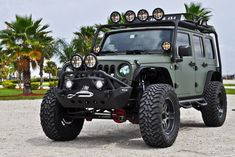 Military Green Jeep Wrangler by CEC Wheels 01