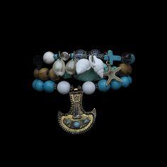 "RDB ""Miami Beach"" bracelet by ROYAL BEAST DESIGN – JAANTE SHOWROOM  #royalbeastdesign #jaanteshowroom #jewellery #beast #madeinswitzerand #pulseras #bracelet #ecofriendly Beach Bracelets, Miami Beach, Showroom, Turquoise Bracelet, Beast, Charmed, Jewellery, Design, Fashion"