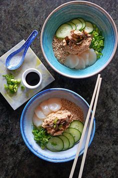 Spicy Crab and Scallop Donburi Bowl by Tess Ward Crab Recipes, Salad Recipes, Healthy Recipes, Korean Crab Recipe, Donburi Bowl Recipe, Tess Ward, Tv Chefs, Great British Chefs, Dessert