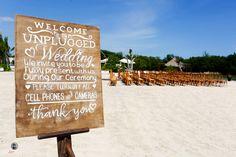 beach wedding,  wedding sign, wedding ceremony