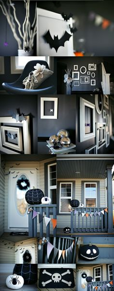 Halloween Porch Decor - Click image to find more DIY & Crafts Pinterest pins