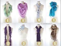 ▶ 8 Möglichkeiten einen Schal zu binden - YouTube