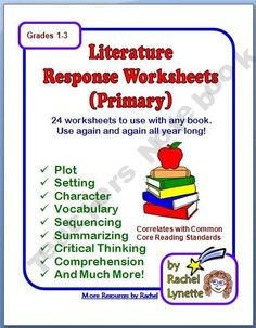 Literature Response Primary Worksheets for Any Book
