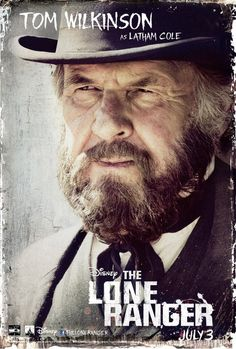 Tom Wilkinson as Latham Cole in The Lone Ranger.