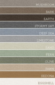 perfect palette for the whole house. pick any 3 of these colors per room.