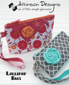 Lollipop Bags sewing pattern