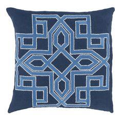Decor 140 Catania Throw Pillow, Blue (Navy)