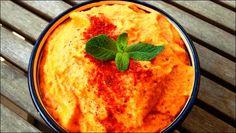 Hummus fácil de pimientos del piquillo.