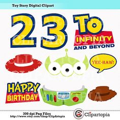 Toy Story Digital Clipart / DIY Toy Story Party by ClipArtopia