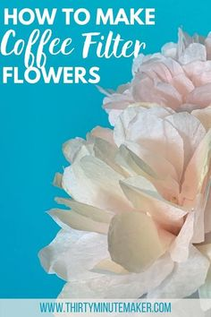 Make these lovely coffee filter flowers on stems with items from the dollar store!  So quick & fun to make. Arts And Crafts For Adults, Crafts For Teens To Make, Coffee Filter Flowers, Coffee Filters, Flower Crafts, Diy Flowers, Paper Flowers, Halloween Porch Decorations, Fabric Flower Tutorial