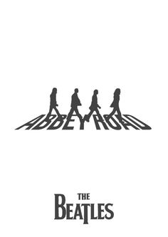 Set Of The Beatles Abbey Road Silhouettes With 3 Different