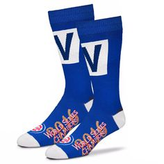 Men's Chicago Cubs For Bare Feet 2016 World Series Champions Cubs Win W Crew Socks