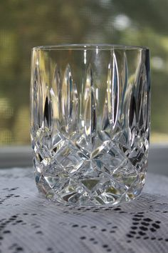 Vintage 24 Full Lead Crystal BLOCK Hand Made in by RomantiqueTouch, $20.00