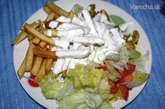 Gyros tanier alá Papa Chicken - recept | Varecha.sk Cottage Cheese, Chicken, Meat, Food, Essen, Meals, Yemek, Eten, Cubs