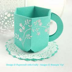 Envelope Punchboard Teacup www.papercraftwithcrafty.co.uk