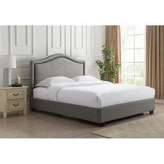 Gregory Linen Upholstered Platform Bed