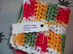 Crochet Dishcloths/Set of Three/Dark Sage by MountainMadeCrochet, $10.00