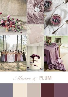 Mauve and Plum Wedding Inspiration, purple wedding ideas
