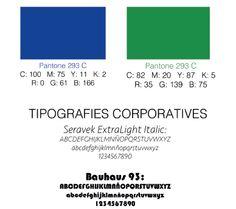 Colors i tipografies del Logotip