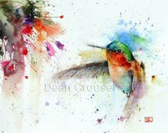 Meise bunte Aquarell Drucke von Dean Crouser von DeanCrouserArt