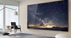 The Wall Luxury is de grootste en meest geavanceerde Micro Led-tv van Samsung Design 3d, Tv Wall Design, 75 Inch Tvs, 8k Tv, Tv 32, Cool New Gadgets, Diy Tisch, Big Screen Tv, Large Tv