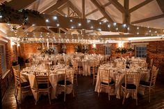 Wedding Breakfast set-up at Sopley Mill