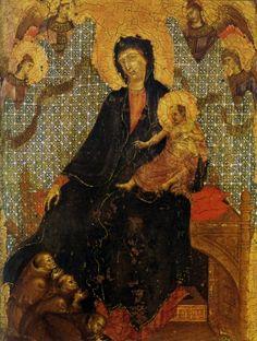 Pinacoteca Nazionale Siena - Duccio di Boninsegna, Madonna dei Francescani