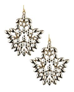 Hematite Chandelier Earrings by Lydell NYC at Last Call by Neiman Marcus.