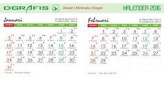 Desain Grafis: Kalender 2016 lengkap Gratis format coreldraw