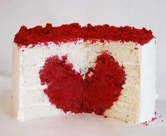How to make a heart cake.