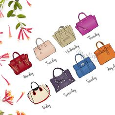 Fashionista's calendar handbag illustration