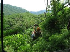 Los Veranos Canopy Tour. What a Blast! Whiz thru the trees. All the guys that help you get on and off the zipline at each run are so much fun!