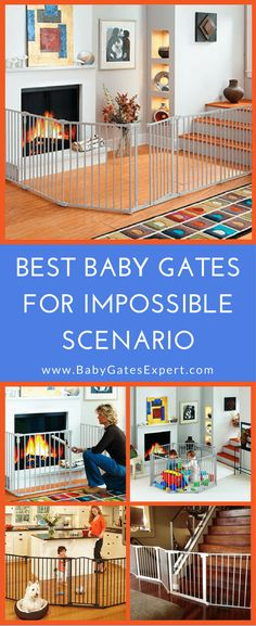 Not for your average doorway, these baby gates take childproofing to a whole new level with longer lengths & crazy configurations! (Best Baby Gates)