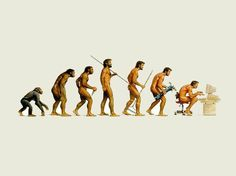 the evolution of man...