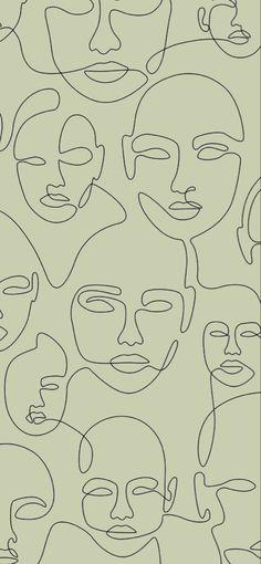 line art wallpaper