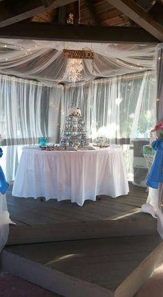 Cake table beach wedding