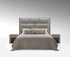 Perfetto interprete della zona notte in stile Fendi Casa, il nuovo letto Montgomery si distingue per le propo