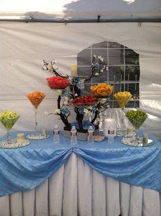 Mesa de fruta bautizo