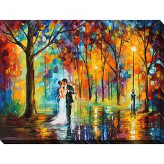 FramedArt.com Leonid Afremov 'Rainy Wedding' Giclee Print Wall Art