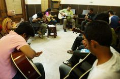 "Guitar is a popular musical instrument that makes sound by the playing of its (typically) six strings with the sound.""Guitar Classes in Indirapuram"" is the best center for Guitar learning. Guitar is a popular musical instrument that makes sound by the playing of its (typically) six strings with the sound.  http://www.dealgali.com/guitar-classes-in-indirapuram-D0001292.html"