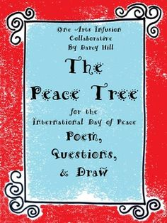The Peace Tree: Poem, Questions, Draw Teacher Blogs, Teacher Resources, School Resources, Peace Poems, International Day Of Peace, Creative Teaching, Teaching Ideas, Poetry For Kids, Teaching Poetry
