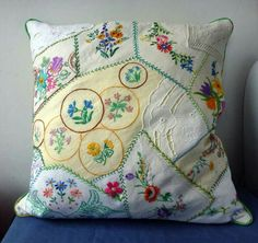Reuse of damaged antique embroideries