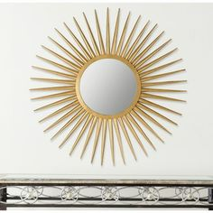 Safavieh Sun Flair Gold Mirror
