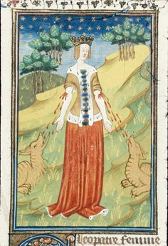 Le livre de femmes nobles et renomées, Giovanni Boccaccio. c. 1440 - Cleopatra