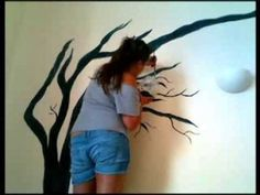 Painting a windy tree /Pintando un arbol! - YouTube