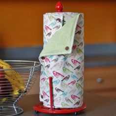 Reusable, Eco Friendly Snapping Paper Towel Set. Brilliant!  .  .  These are what we use!  Had the same set for about 4-5yrs now.  We keep them folded in a drawer in the kitchen, snaps were too hard for the little kids to undo quickly.