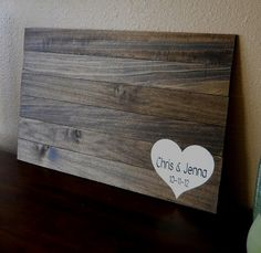 Rustic Wood Guest Book Alternative Custom Personalized Wedding Sign