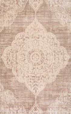 Get the faded vintage look with this machine made viscose rug available in muted colors. This rug had a soft, velvety low pile and is light weight, making it easy to move around.
