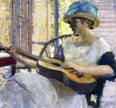 The Artist's Daughter. Richard Edward Miller (American, Impressionism, 1875-1943).